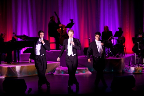 "The cast of ""I Left My Heart"" belts out a classic tune at the Candlelight Pavilion"