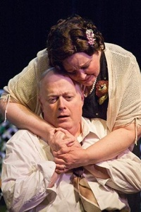 "Richard Large and Candy Beck as Joe and Kate, the troubled couple central to ""All My Sons"""