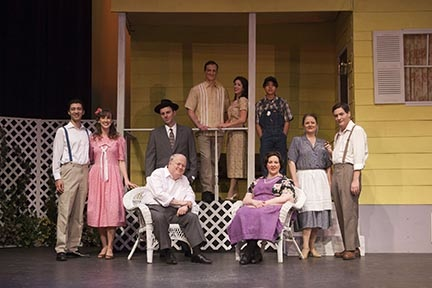 "The cast of ""All My Sons"" at Whittier Community Theatre"