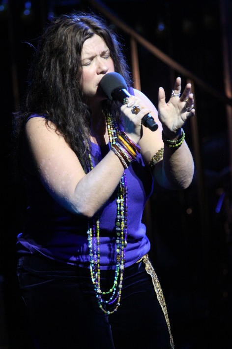 Mary Bridget Davies is Janis Joplin at the Pasadena Playhouse [photos: Jim Cox]