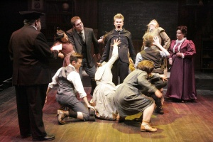 Austin MacPhee, as Melchior,leads the cast of Spring Awakenings in La Mirada