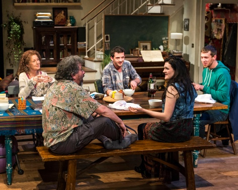 "Lee Roy Rogers, Jeff Still, Will Brill, Gayle Rankin and Russell Harvard create a family of noise and silences in ""Tribes"" at the Mark Taper Forum"