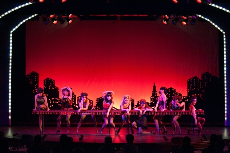 "The taxi dancers look for a ""Big Spender"" in Sweet Charity at the Candlelight Pavilion"
