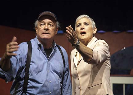 """Lewis Crouse and Roxie Lee, anxious for the outcome of """"The Fox on the Fairway"""" at WTC"""