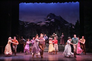 "Dancing with abandon in ""Seven Brides for Seven Brothers"" at La Mirada [photo: Michael Lamont]"