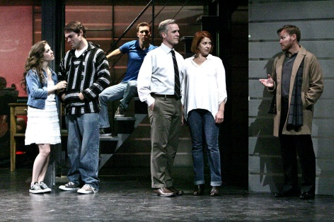 "The cast of La Mirada's ""Next to Normal"" - A family faces the doctor, and themselves [photo: Michael Lamont]"