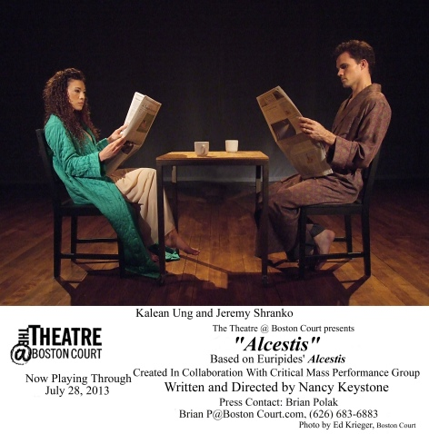 "Kalean Ung and Jeremy Shranko lead the cast of Nancy Keystone's ""Alcestis"" at The Theatre @ Boston Court"