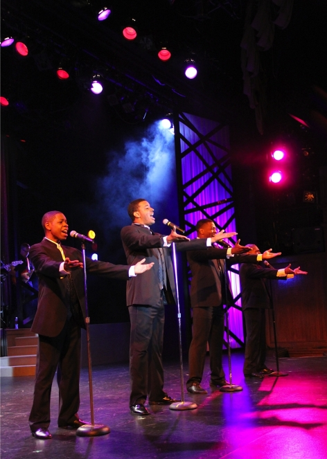 "Eric Bailey, Desmond Clark, Gary Lewis, and Lawrence Cummings as The Four Tops in ""Sounds of Motown"""