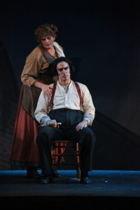 John LaLonde and Debbie Prutsman as Sweeney Todd and Mrs. Lovett at the Candlelight Pavilion [photo: Kirklyn Robinson]