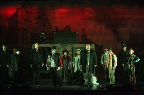 "The cast of ""Sweeney Todd"" at the Candlelight Pavilion [photo: Kirklyn Robinson]"