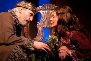 John Rafter Lee as Henry II, and Diane Hurley as Eleanor of Aquitaine [photo: Gina Long]