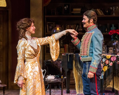Elyse Mirto and the disguised Freddy Douglas in The Guardsman [photo: Craig Schwartz]