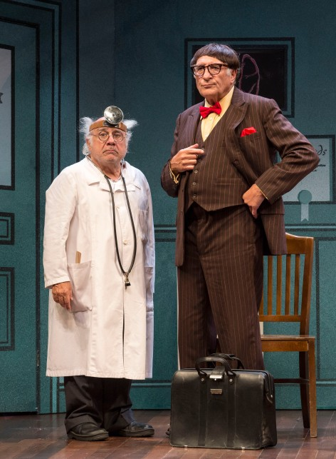 "Danny DeVito and Judd Hirsch reunite in ""The Sunshine Boys"" at the Ahmanson [photo: Craig Schwartz]"