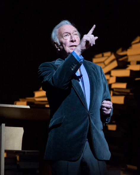 "Christopher Plummer in ""A Word or Two"" at the Ahmanson [photo: Craig Schwartz]"