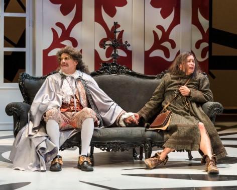 Geoff Elliott and Freddy Douglas as Orgon and the felonious Tartuffe, at A Noise Within [photo: Craig Schwartz]