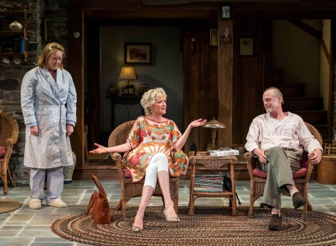 "Kristine Nielsen, Christine Ebersole and Mark Blum in Christopher Durang's Tony Award-winning  ""Vanya and Sonia and Masha and Spike""  [Photo: Craig Schwartz]"