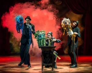The witches, with puppet enhancements [photo: Craig Schwartz]