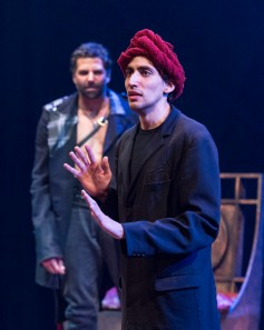 "Amin El Gamal is a witch and a very creepy servant in A Noise Within's ""MacBeth"" [photo: Craig Schwartz]"