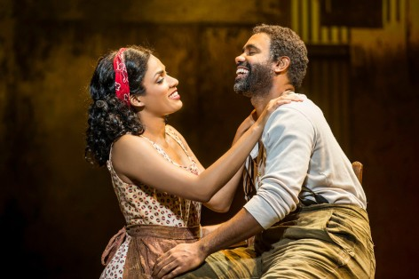 Alicia Hall Moran and Nathaniel Stampley as Gershwin's famed couple [photo: Michael J. Lutch]