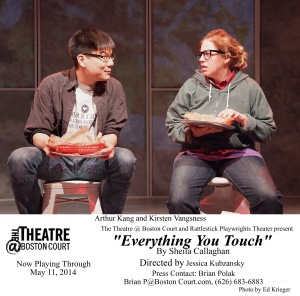 "Arthur Keng and Kirsten Vangsness as counterpoint to the fashionable world in ""Everything You Touch"""