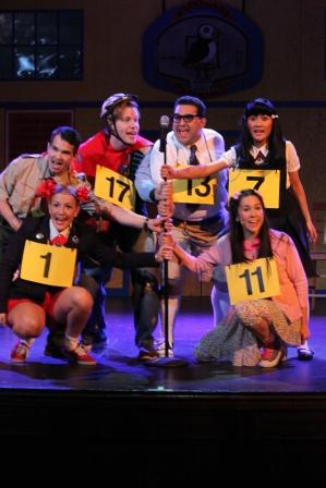 "The cast of ""The 25th Annual Putnam County Spelling Bee"" is ready to spell [photo: Kirklyn Robinson]"