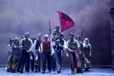 "The Company of the McCoy/Rigby Entertainment production of ""Les  Miserables"" in La Mirada [photo: Michael Lamont]"