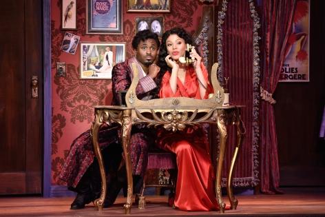 "Wayne Brady and Merle Dandridge star in ""Kiss Me Kate"" at the Pasadena Playhouse [photo: Earl Gibson III]"