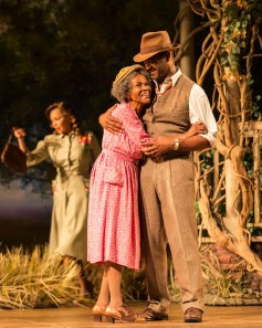 (l. to r.) Vanessa Williams (background), Cicely Tyson and Blair Underwood [photo: Craig Schwartz]