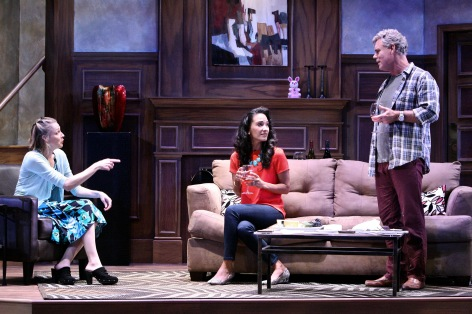 "Katie MacNichol, Sophina Brown and Martin Kildare in ""Good People"" in La Mirada [photo: Michael Lamont]"