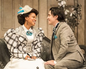 Carolyn Ratteray and Christopher Salazar as Gwendolyn and Jack [photo: Craig Schwartz]