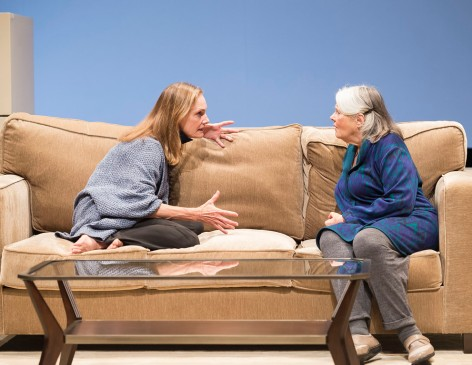 """Lisa Emory and Lois Smith square off as daughter and mother in """"Marjorie Prime"""" [photo: Craig Schwartz]"""