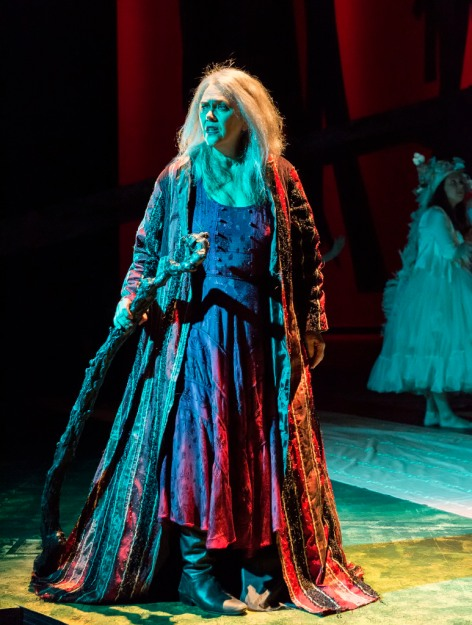 Deborah Strang is Shakespeare's magical Prospero [photo: Craig Schwartz]