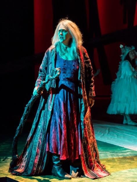 Deborah Strang is Shakespeare's magical Prospero [photo: Craig Schwartz]