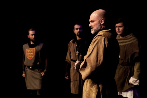 "William Crisp as Henry II confronts his sons in Whittier's ""The Lion in Winter"""