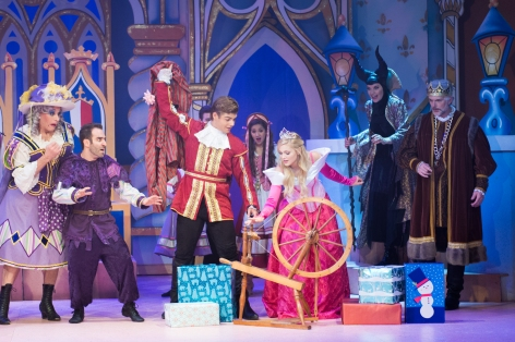 "The cast of ""Sleeping Beauty and Her Winter Knight"", a Panto at the (Pasadena) Playhouse"