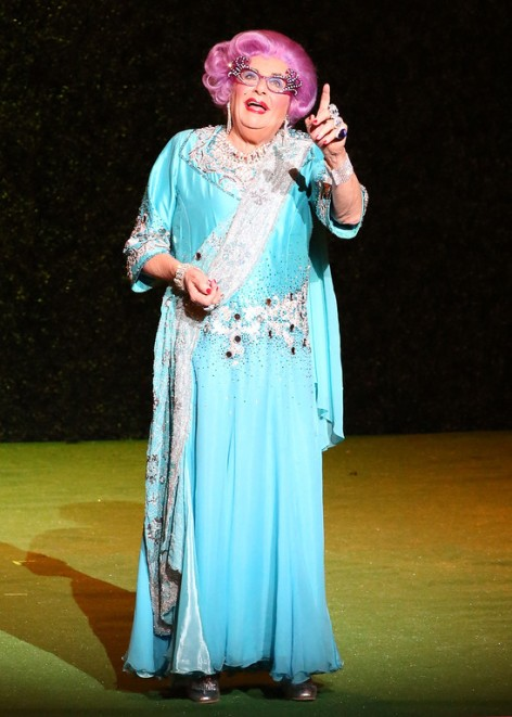 "Barry Humphries in  ""Dame Edna's Glorious Goodbye – The Farewell Tour.""  [Photo: Matt Jelonek]"