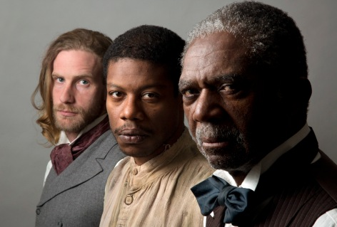 "Adam Haas Hunter, Jarrod M. Smith and Charlie Robinson all have a legacy attached to ""The Whipping Man"" at Pasadena Playhouse [photo: Jordon Kubat]"