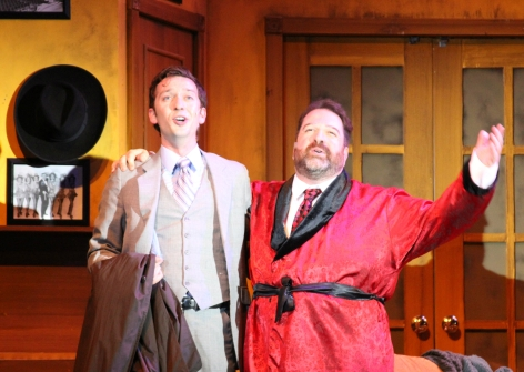 """Bobby Collins and Jamie Snyder as Leo and Max in """"The Producers"""" [photo: John LaLonde]"""