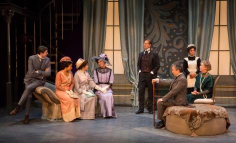 "The impressive cast of the Pasadena Playhouse's ""Pygmalion"" [photo: Jim Cox]"