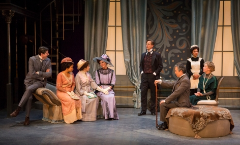 "The impressive cast of the Pasadena Playhouse's ""Pygmalion"" [photo: Jim Cox]"