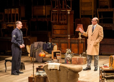 John Bedford Lloyd and Sam Robards square off in Arthur Miller's The Price at the Taper [photo: Craig Schwartz]