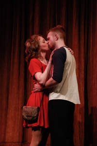 It's all about the romance for Robbie (Kyle Caldwell) and Julia (Susanna Vaughan)