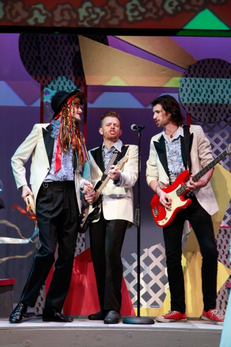 Kyle Caldwell (center) is The Wedding Singer at Covina CPA, backed with style by Ricky Wagner and Ryan Jones