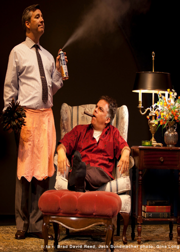 "David Brad Reed and Jack Sundmacher in the classic ""The Odd Couple"" at Sierra Madre Playhouse [photo: Gina Long]"