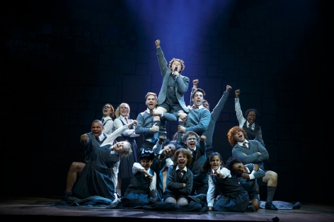 "The kids win the day in ""Matilda"" at the Ahmanson [Photo: Joan Marcus]"
