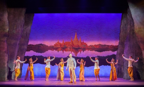 "Bie Sukrit and the ensemble celebrate the cultural traditions of Siam in ""Waterfall"" [photo: Jim Cox]"