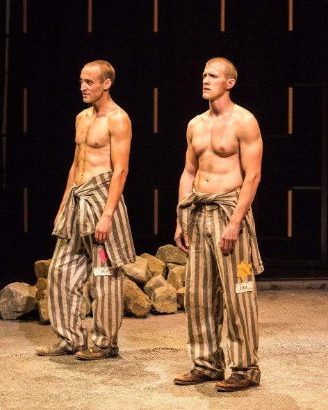 "Charlie Hofheimer and Patrick Heusinger in Martin Sherman's """"Bent"" [Photo: Craig Schwartz]"