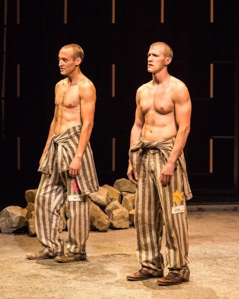 "Charlie Hofheimer and Patrick Heusinger in Martin Sherman's """"Bent"" [Photo: Craig Schwartz]"