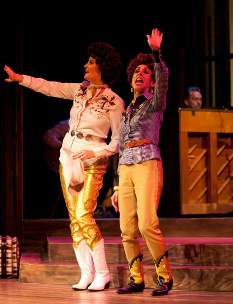 Cori Cable Kidder as Patsy Cline and Nikki D'Amico as Louise Seger in