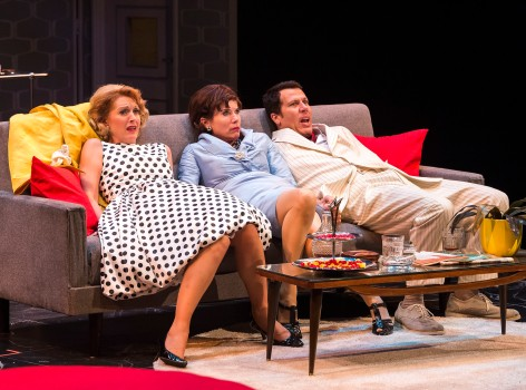 : Elyse Mirto, Jill Hill and Jonathan Bray in the classic farce
